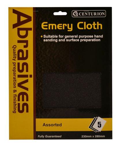 5 Assorted Emery Cloth Pack
