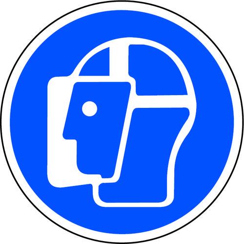 Wear Face Shield Floor Graphic