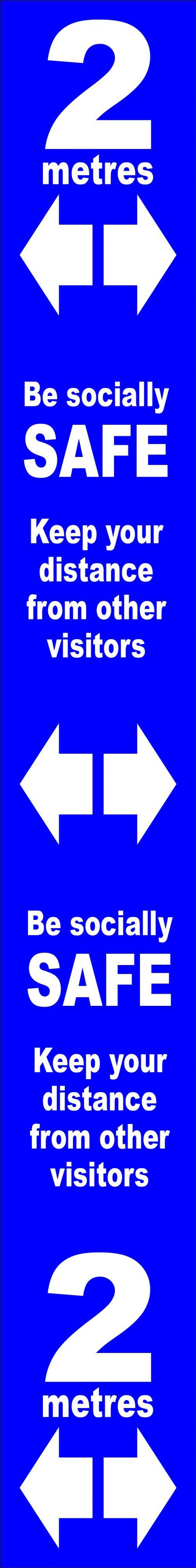 Distance mrkr-Blue SAV LAM (800x100mm)