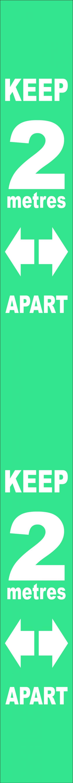 Wall distance mrkr-Trqse PVC (800x75mm)