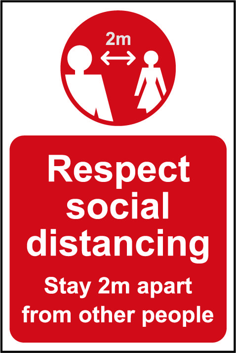 Lightweight and sturdy Correx A-Board (Red) - Respect Social Distancing