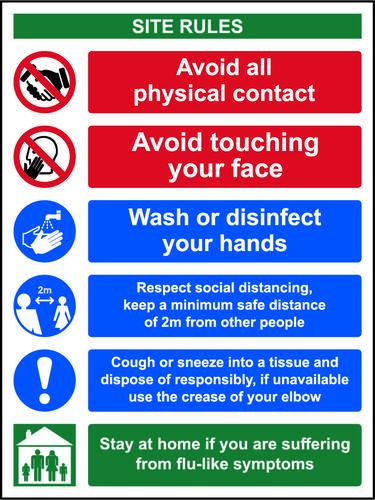 Social Distancing Hygiene Safety Sign