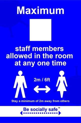 Maximum staff sign - RPVC