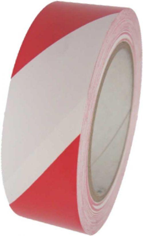 Hazard Tape Red/White 50mm x 33M