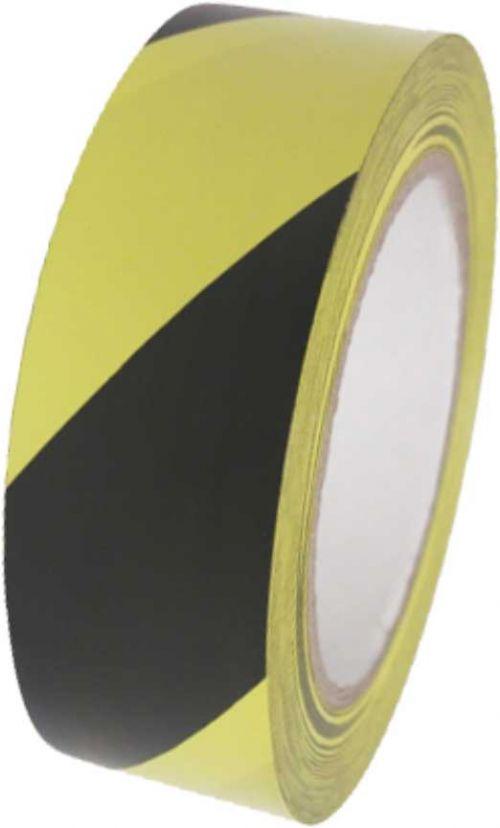 Hazard Tape Yellow/Black 50mm x 33M