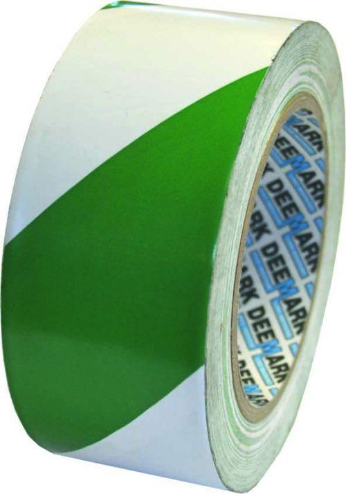 Hazard Tape Green/White 50mm x 33M