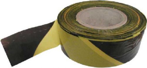 Non-Adhesive Polythene Barrier Tape Black/Yellow 75mm x 500m