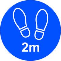 Blue Social Distancing Floor Graphic - 2m Apart (200mm dia.)