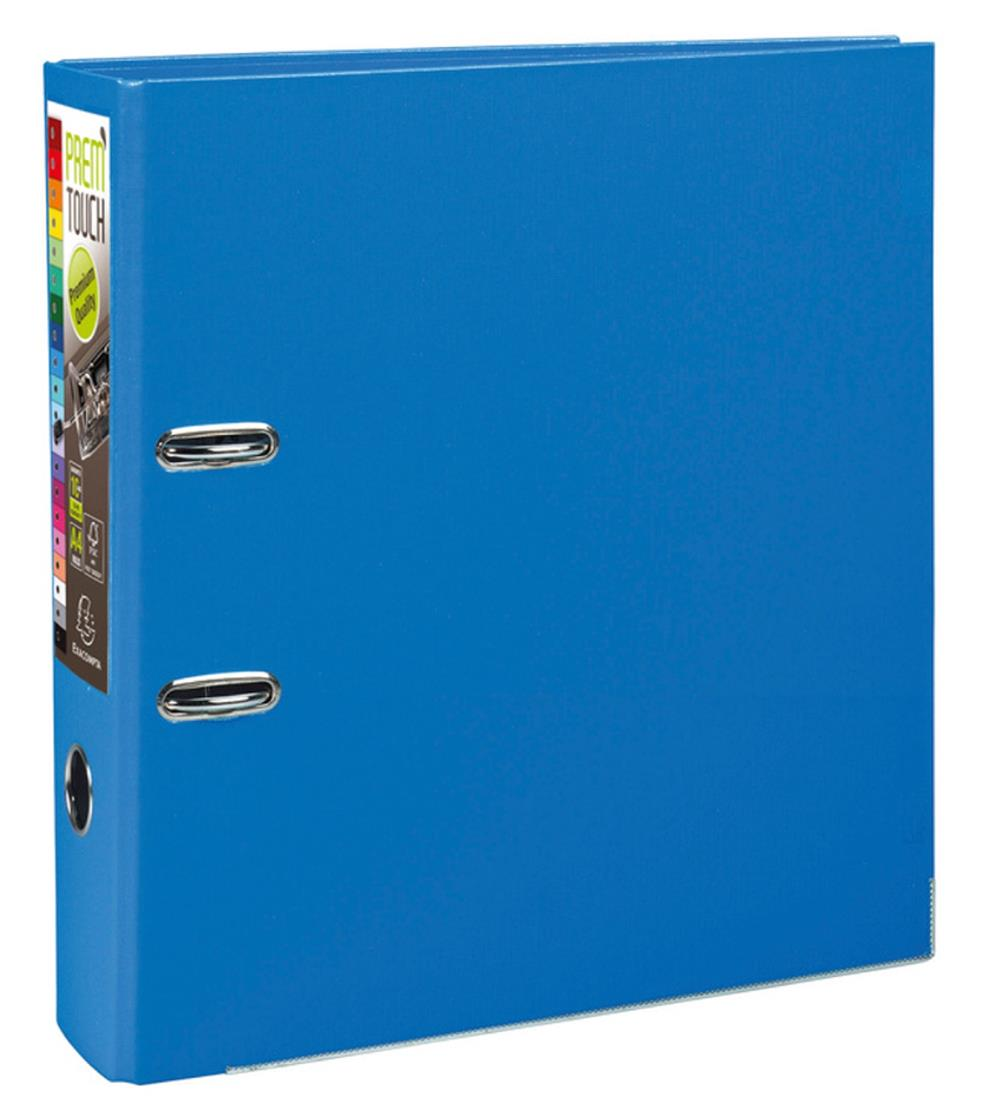 Exacompta PremTouch A4 Maxi Lever Arch File 80mm Polyprop Blue