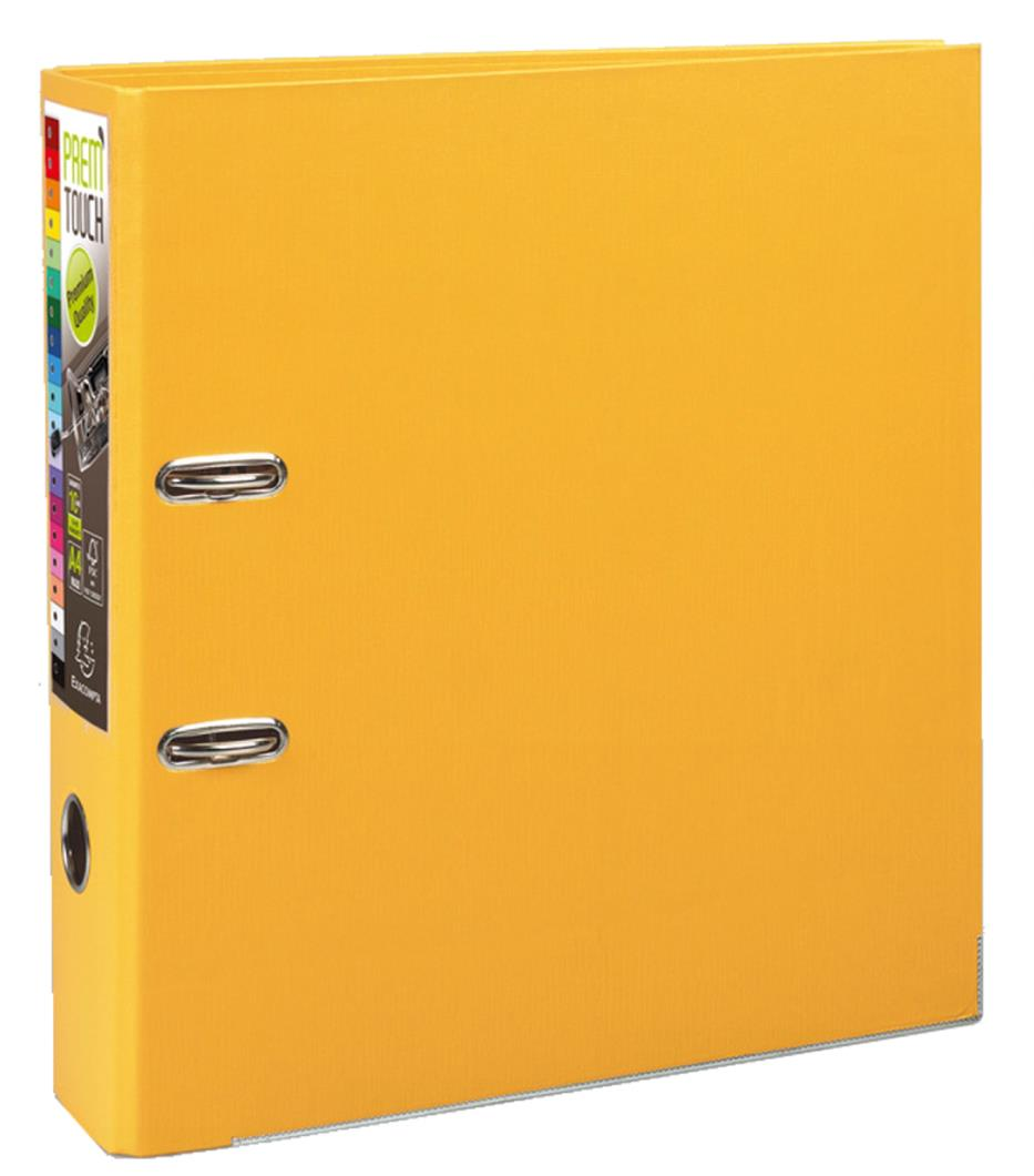 Exacompta PremTouch A4 Maxi Lever Arch File 80mm Polyprop Yellow