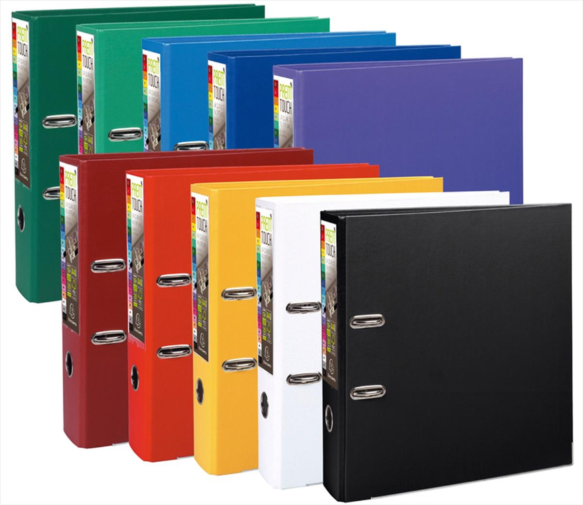 Exacompta PremTouch A4 Maxi Lever Arch File 80mm Polyprop Assorted