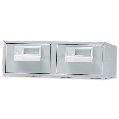 5x3 Index Cabinet 2 Draw Goose/Grey