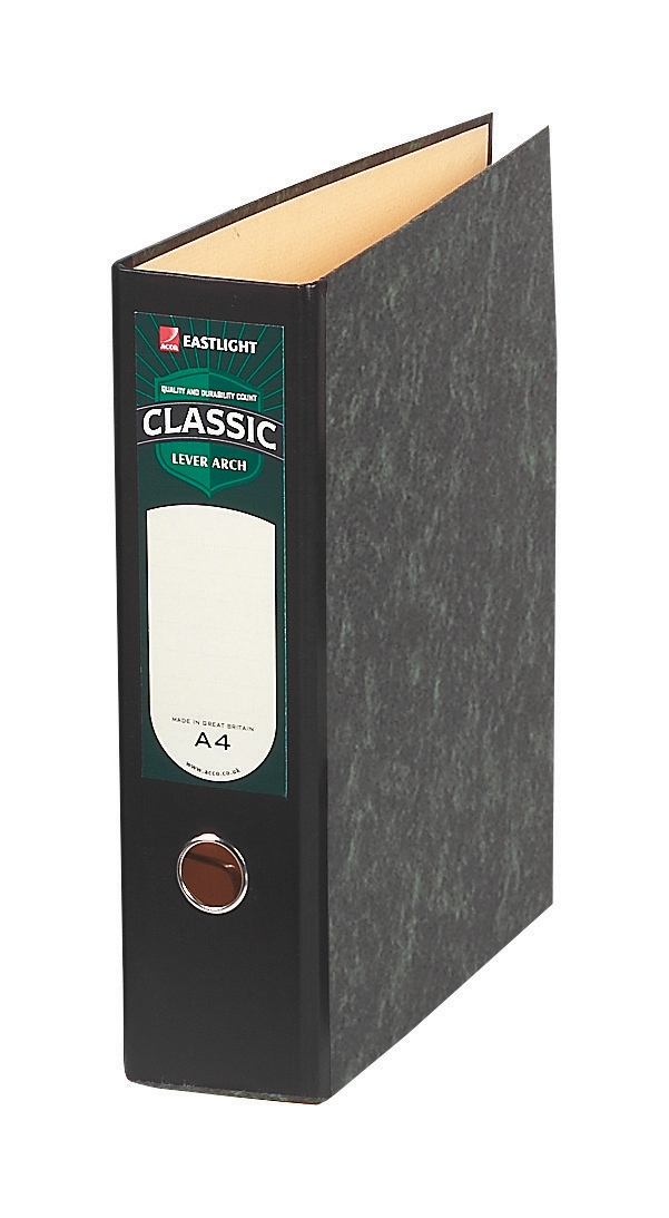 Rexel Classic Lever Arch File Unslotted 75mm Oblong A4/Foolscap Cloudy Grey