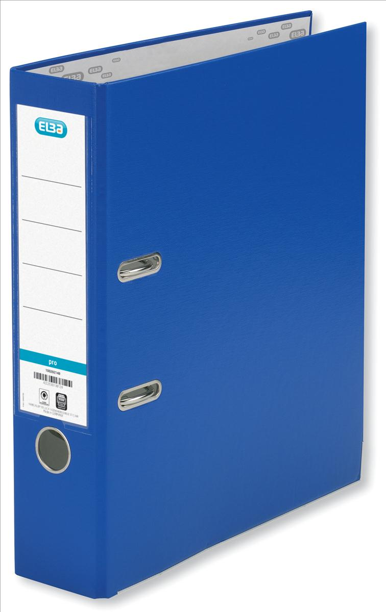 Elba Lever Arch File PVC Slotted 70mm Spine Foolscap Blue Code 100080911