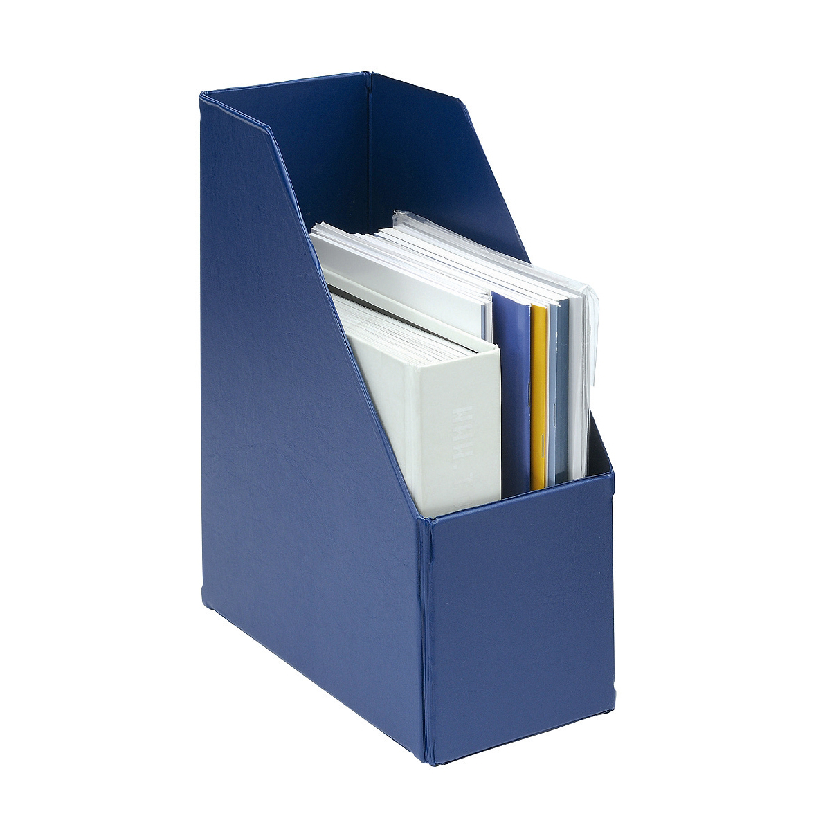 Magazine Rack File Plastic Jumbo 110mm Blue A4 [Pack 5]