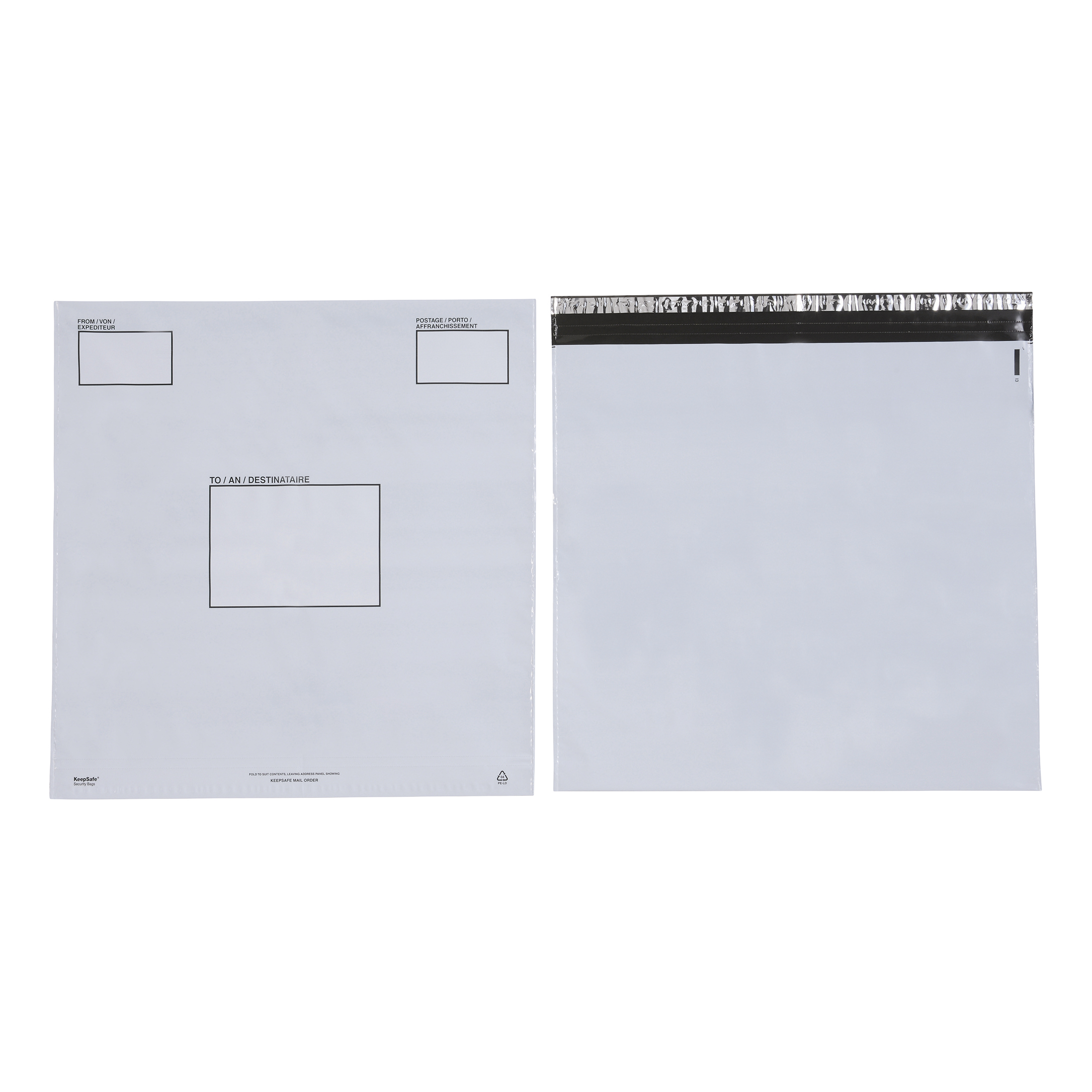 Keepsafe Envelope Extra Strong Polythene Opaque DX W460xH430mm Peel & Seal Ref KSV-MO6 [Box 100]