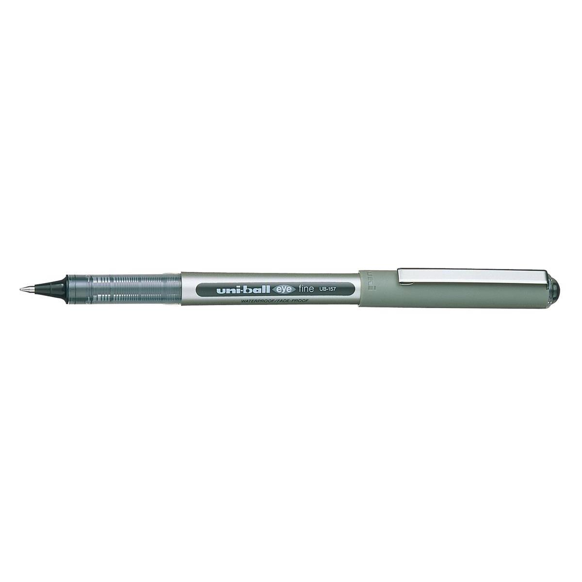 Uni-ball Eye UB157 Rollerball Pen Med Tip 0.7mm Line 0.5mm Black Ref 162446000 [Pack 12]