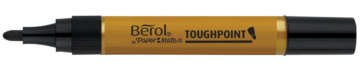 Berol Autoseal Toughpoint Permanent Marker Bullet Tip 1.6mm Line Black Ref S0679640 [Pack 12]