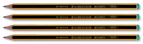 Staedtler 120 Noris Pencil Cedar Wood 2H Green Cap Ref 120-4 [Pack 12]