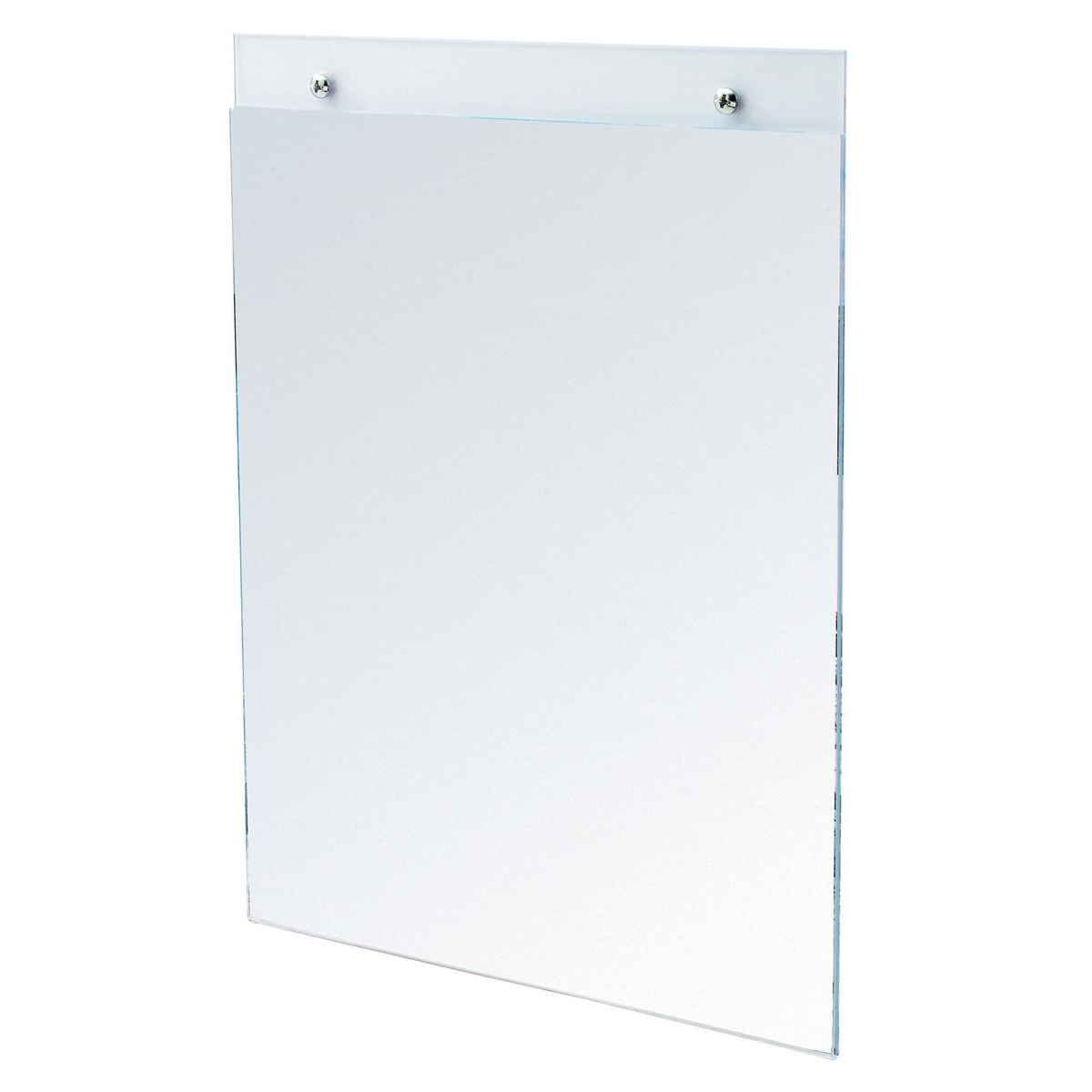 Wall Sign Holder Pre Drilled Portrait A3 Clear
