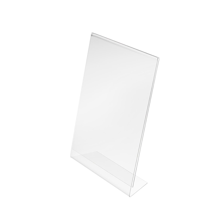 Slanted Sign Holder Side Loading A5 Clear