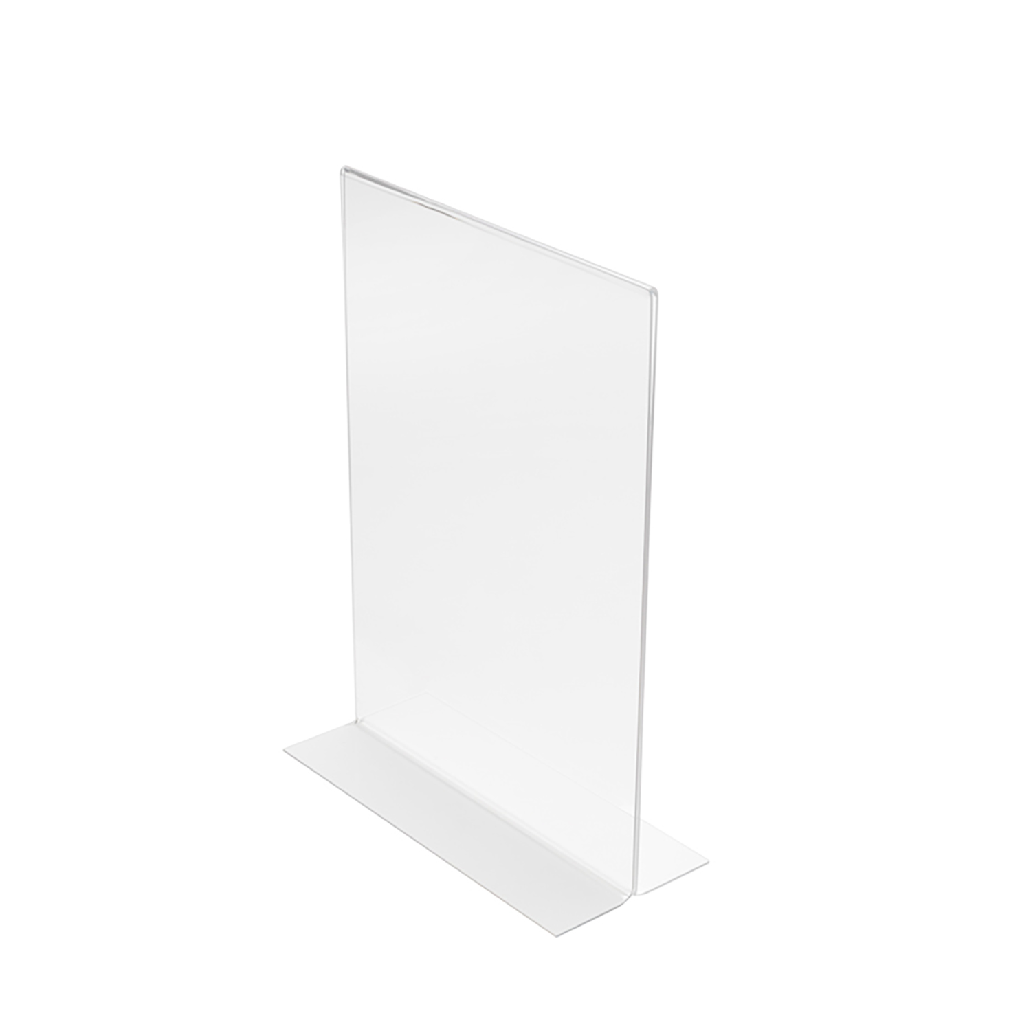 Stand Up Sign Holder Double Sided Portrait A4 Clear