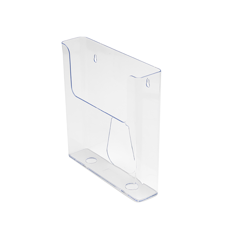Flatback Literature Holder Wall Mounted Single Pocket Portrait A5 Clear