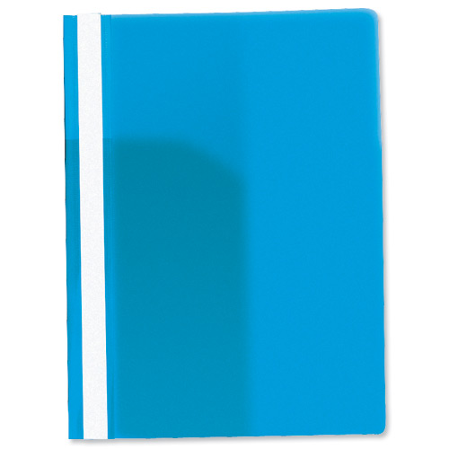 Rexel Nyrex Data File Clear Front Flat Bar Presentation File Blue Code 12600BU
