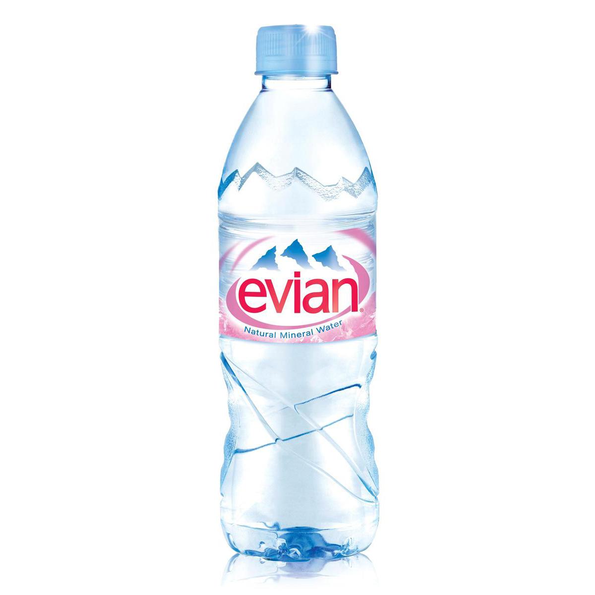 Evian Natural Mineral Water Still Bottle Plastic 500ml Ref 01210 [Pack 24]