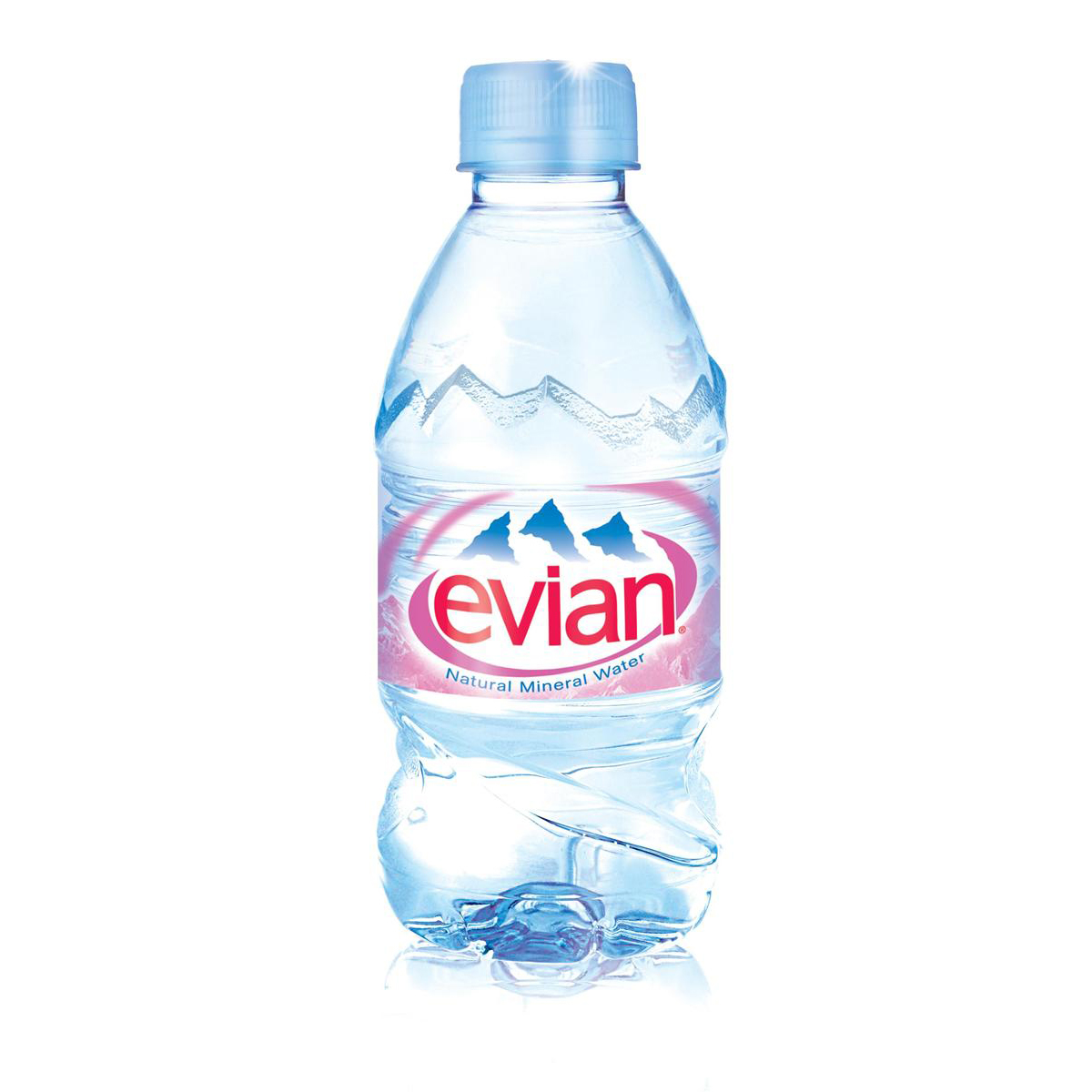 Evian Natural Mineral Water Still Bottle Plastic 330ml Ref N001460 [Pack 24]