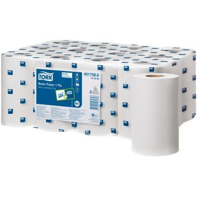 Tork Basic Mini Centrefeed Rolls 1-ply 194mm x 120m [Pack 12] Ref 401758