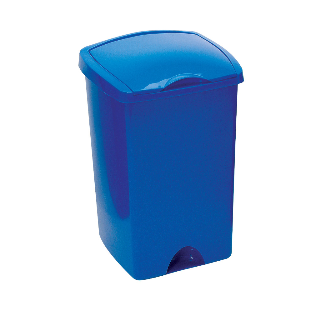Addis Lift Up Lid Bin Plastic 50 Litres Blue Ref 9715