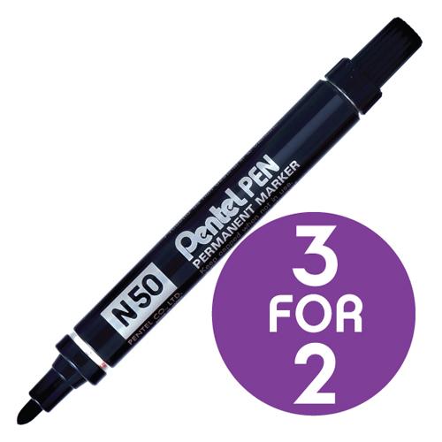 BP Pentel Marker N50 Black 3for2 Jan1/16