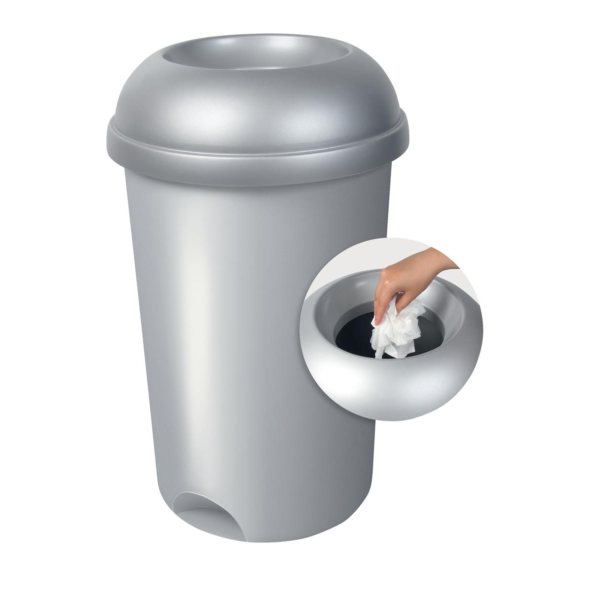 Addis Smart Bin with Lid Capacity 50L Metallic Ref 503579