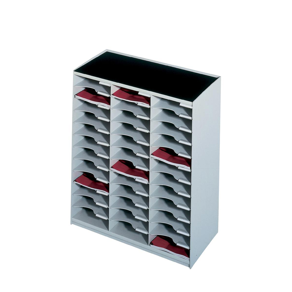 Paperflow Modulodoc Mailsorter Plastic Stackable 36x A4 Compartments W674xD308xH791mm Grey Ref 80302