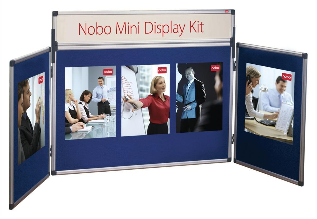 Nobo Mini Table Top Display Kit Blue With Carry Case Code 35232027