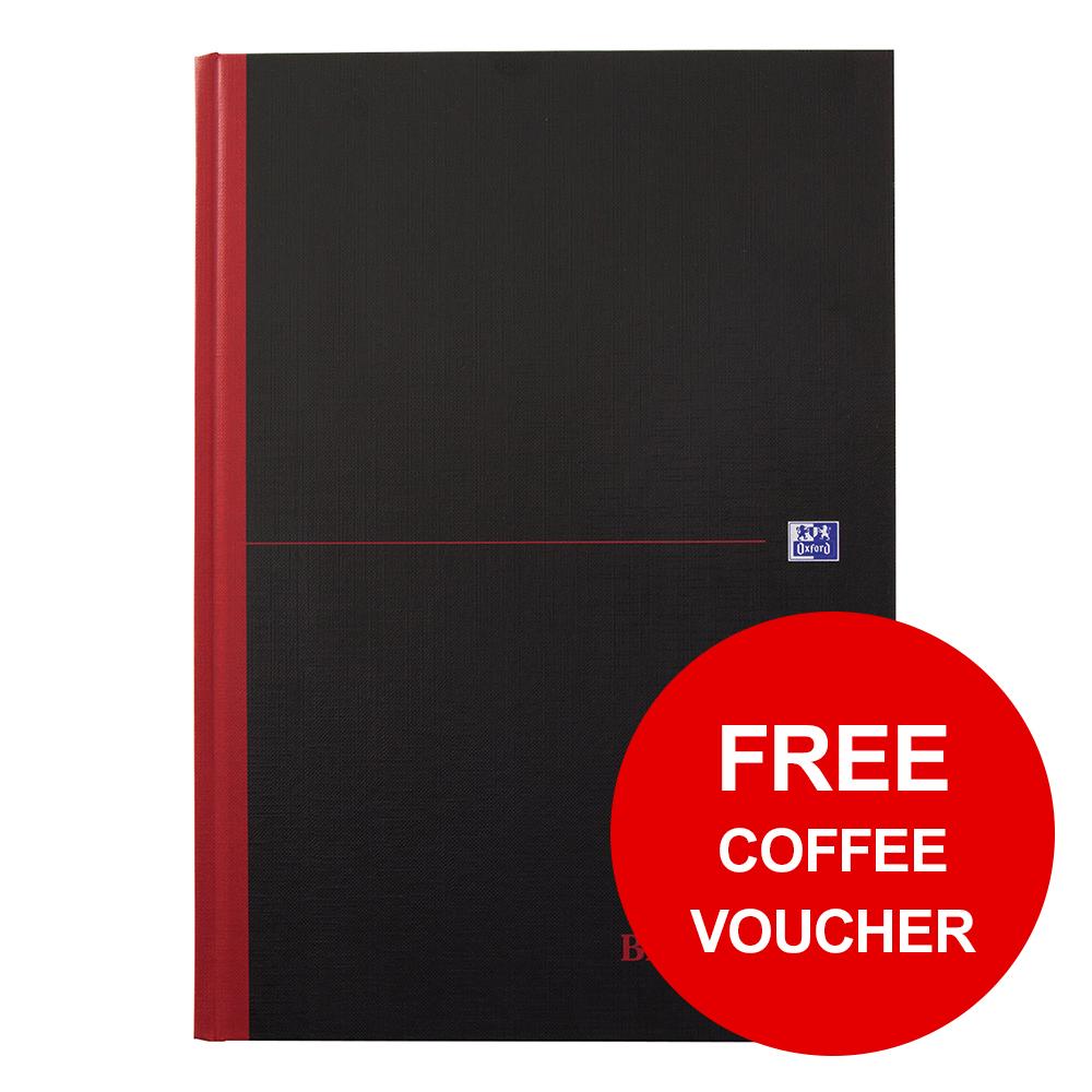 Black n Red Notebook Ruled Casebound 90gsm B5 Ref 400082917 [FREE Coffee] Jan-Feb 2019