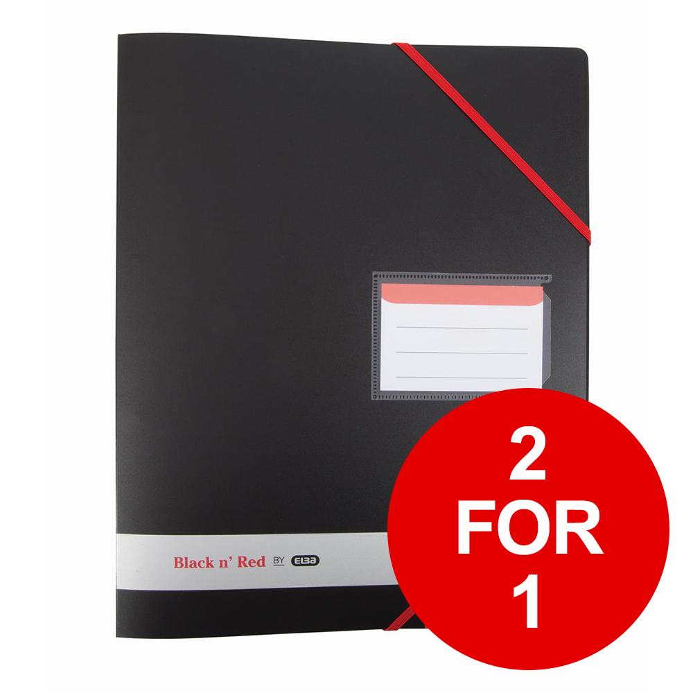 Black N Red Polypropylene Ring Binder Ref 400078863 [2 For 1] Jan-Dec 2019