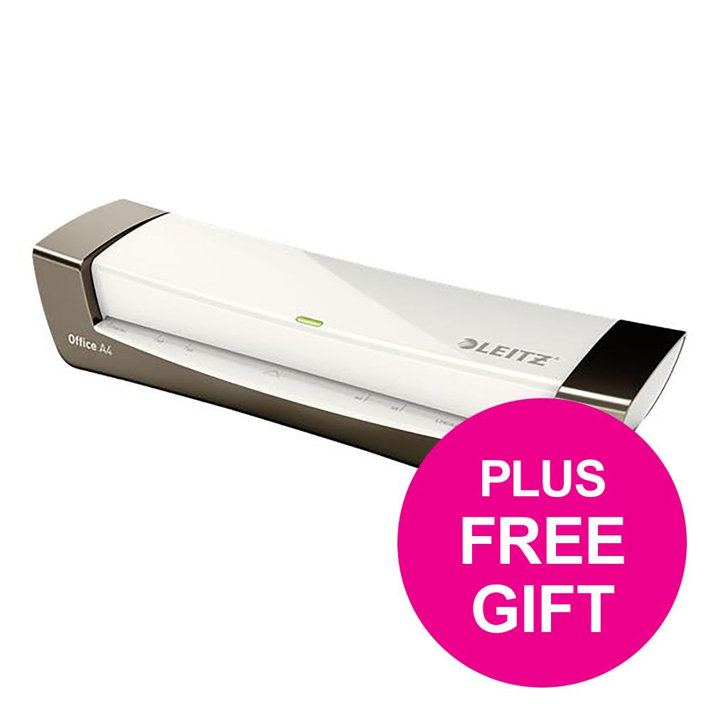 Leitz iLam Office Laminator A4 Silver Ref 72511084 and Pouches Ref 74780000 [Redemption] May-Sep 2018