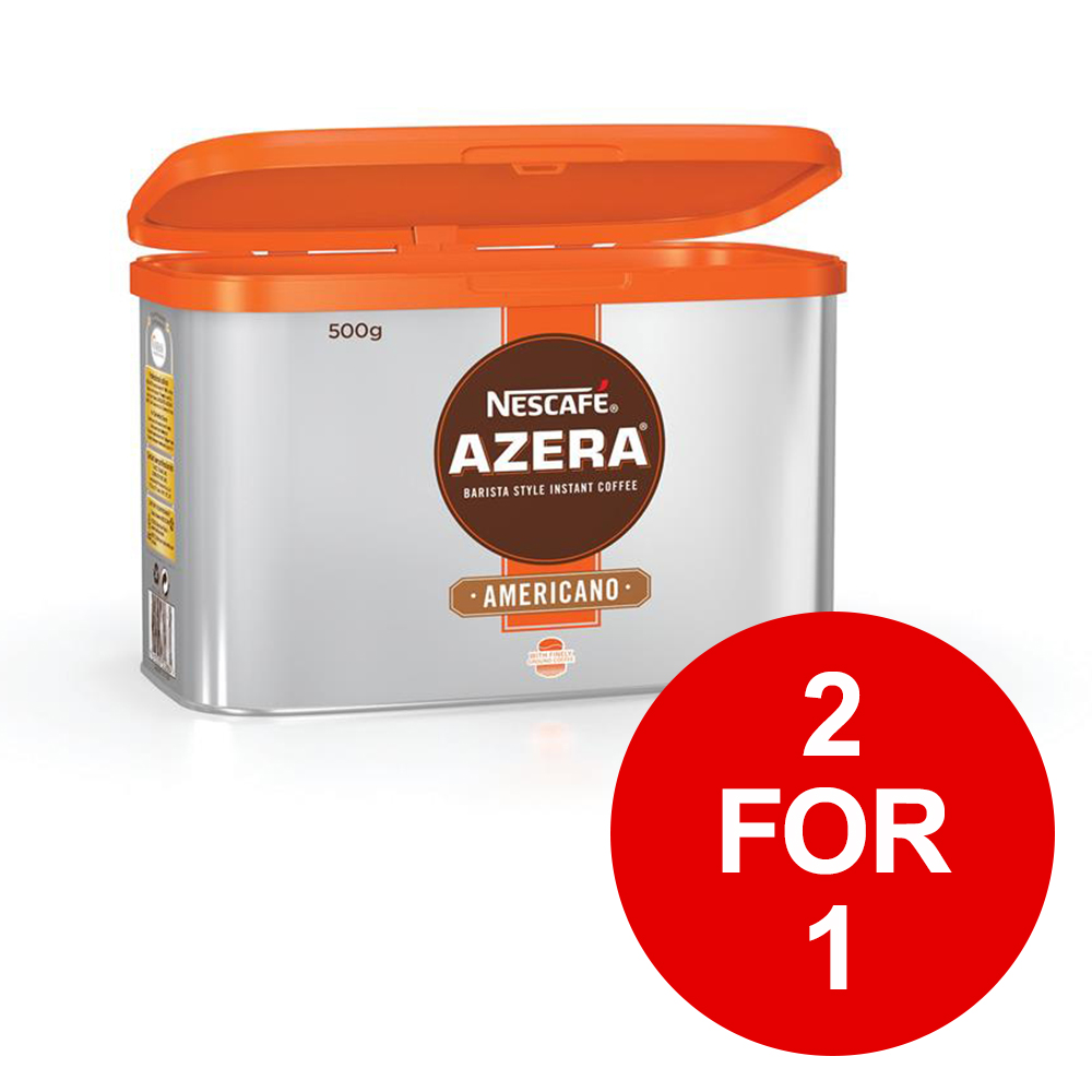 Nescafe Azera Barista Style Instant Coffee Americano 500g Ref 12284221[2 for 1] January 2019