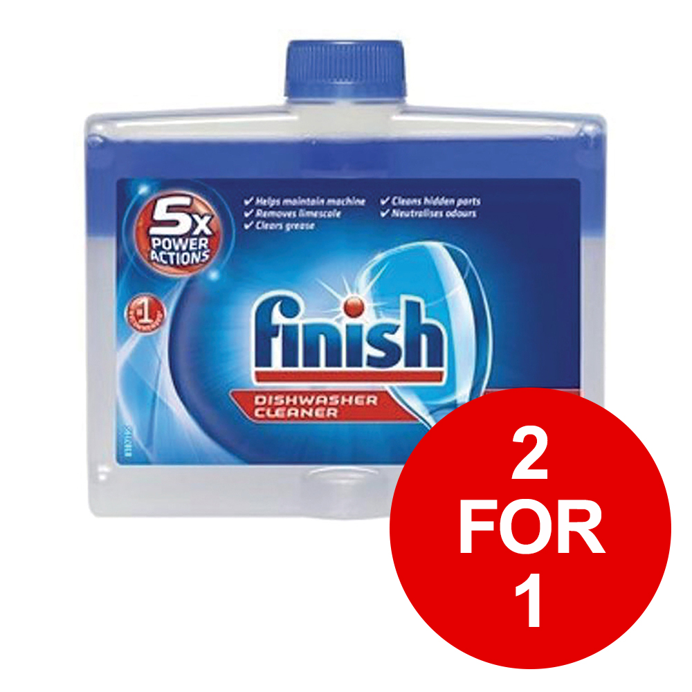 Finish Dishwasher Cleaner Liquid 250ml Ref 153850 [2 for 1] Jan-Mar 2019