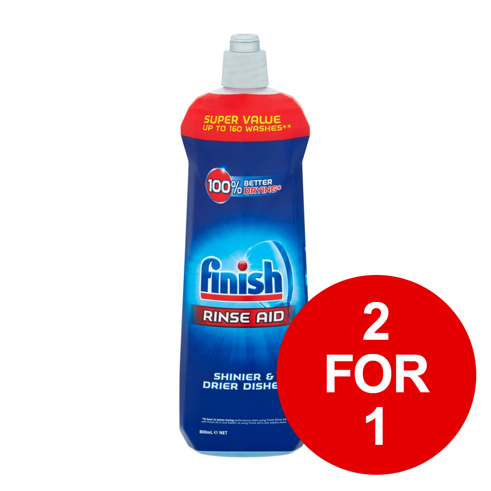 Finish Shine & Protect Rinse Aid 800ml Ref RB760420 [2 for 1] Jan-Mar 2019