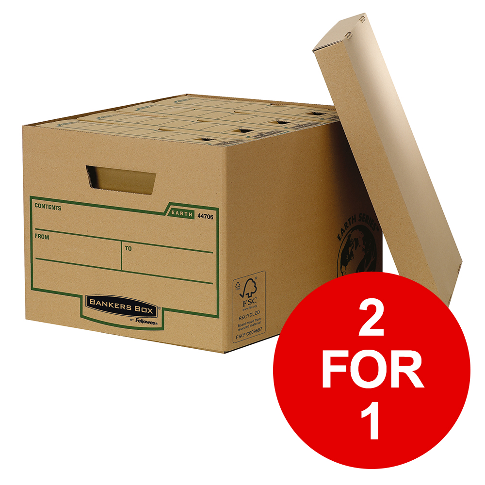 Fellowes Bankers Box Earth Series Standard Storage Box FSC Ref 4470601 [Pack 10] [2 for 1] Jan-Mar 2019