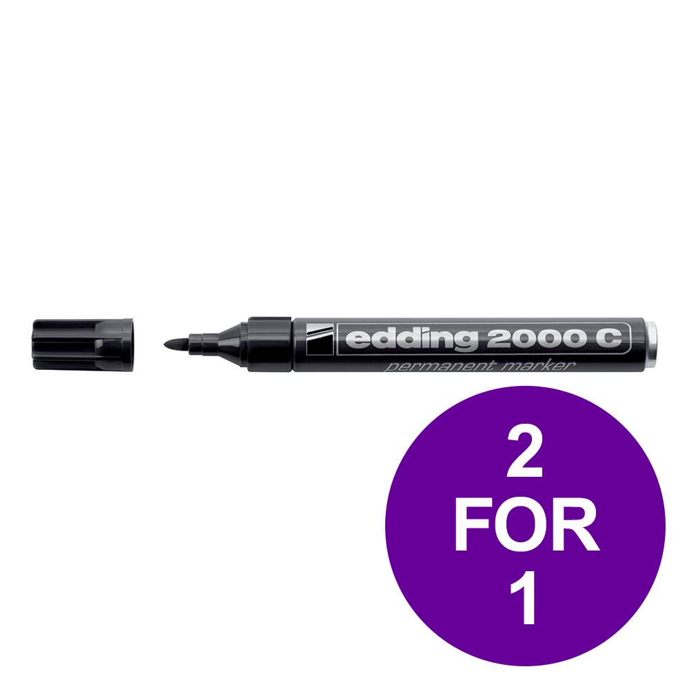 Edding 2000C Permanent Marker Bullet Tip 1.5-3mm Line Blk Ref 4-2000C001 [Pack 10] [2 For 1] Apr-Jun 2019