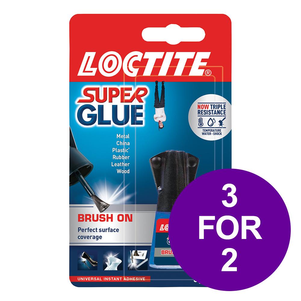 Loctite Super Glue Easy Brush in Anti-spill safety Bottle 5g Ref 87819150 [3 For 2] Apr-Jun 2019