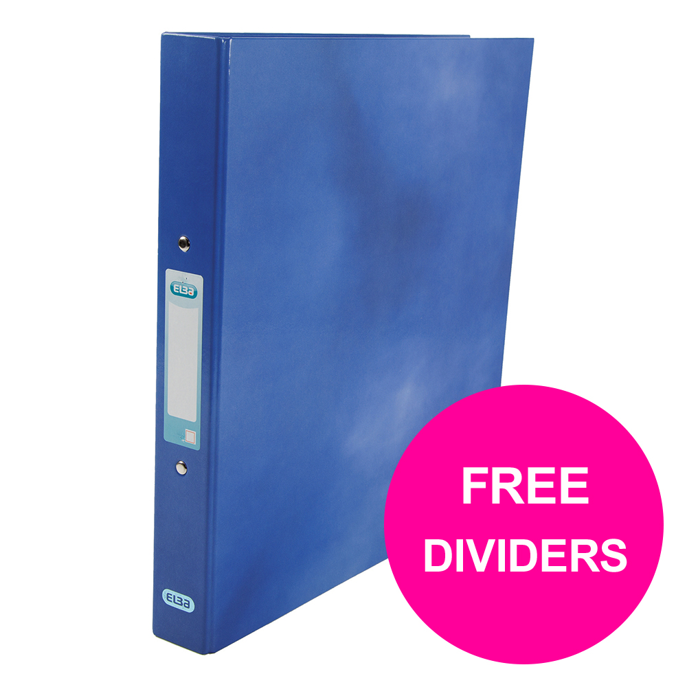 Elba Classy Ring Binder 25mm Cap A4+ Blue Ref 400017754_XX1220 [FREE Dividers] Jan 12/20