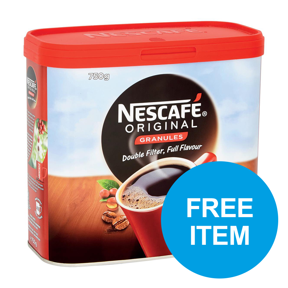 Nescafe Original Instant Coffee Tin 750g Ref 12315566 [Buy 2 get Free Quality Street Tin] Oct-Dec 2019
