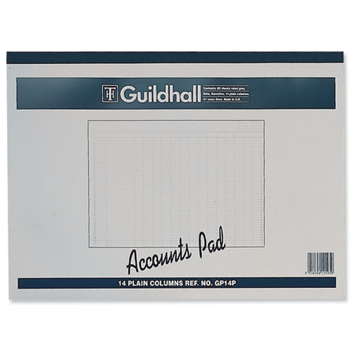 Image for Guildhall Account Pad 14 Cash Column Ruled 41 Feint 60 Leaf 297x420mm Ref GP14