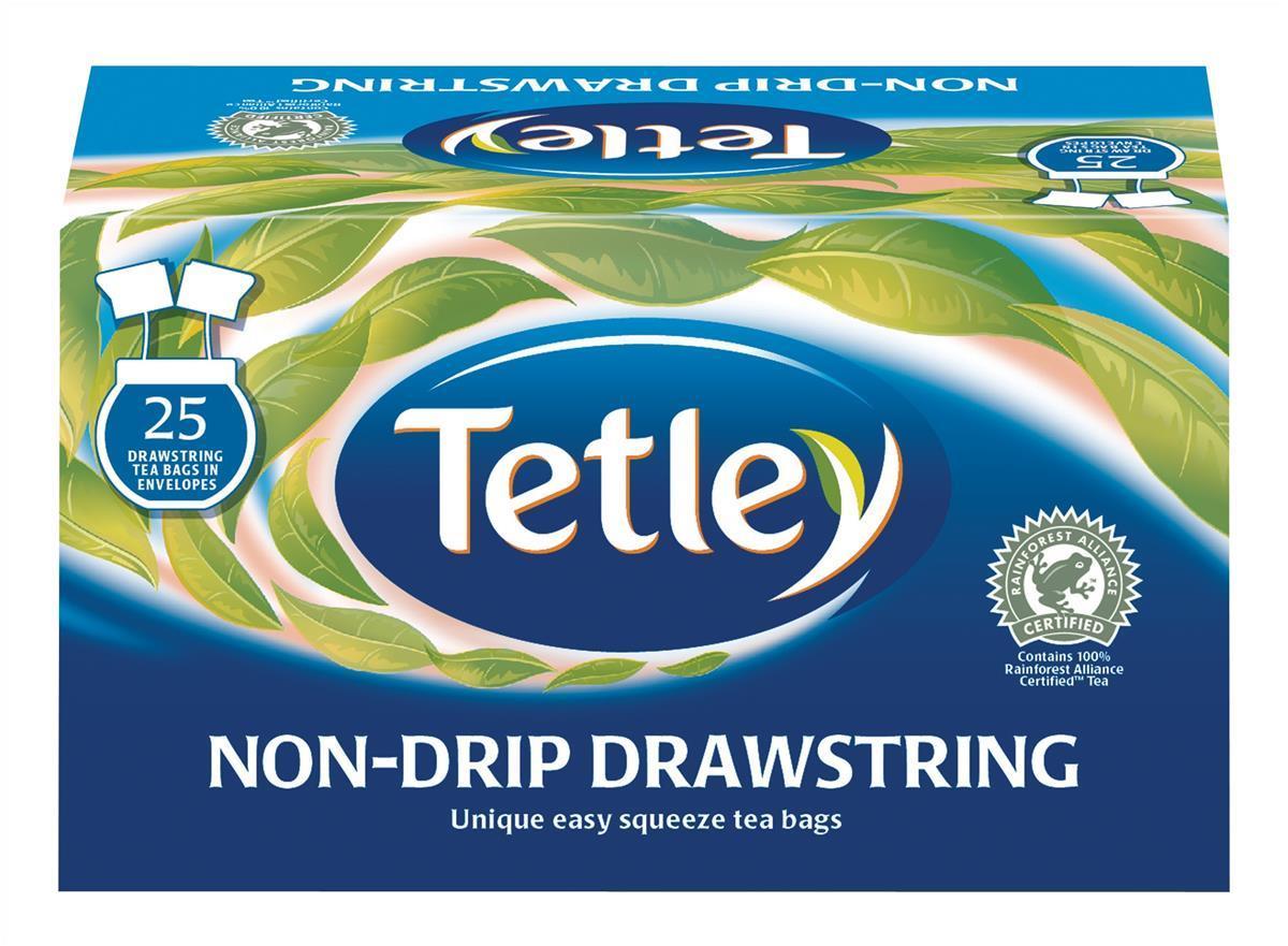 Tetley Drawstring BlackTeabags Pk25 1298