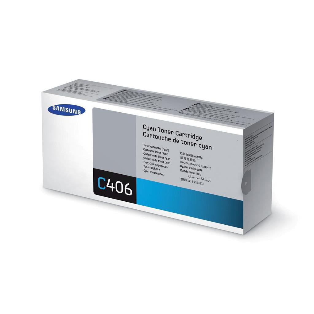 Samsung CLT-C406S Laser Toner Cartridge Page Life 1000pp Cyan Ref ST984A